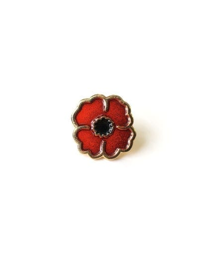 Hard Enamel Pin Poppy