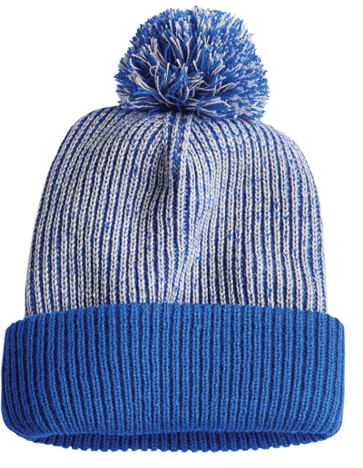 Stock Speckled Knit Pom Pom Toques