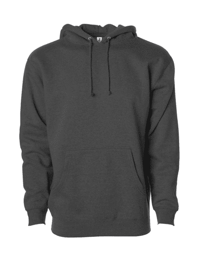 INDEPENDENT TRADING CO Adult Heavyweight Hooded Sweatshirt | Charcoal Heather