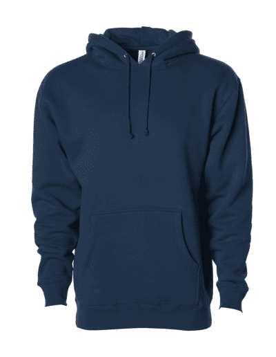 INDEPENDENT TRADING CO Adult Heavyweight Hooded Sweatshirt | NAVY