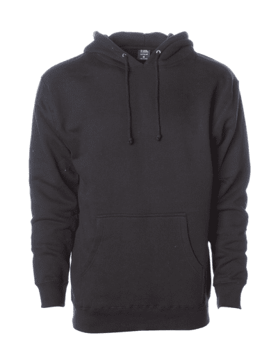 INDEPENDENT TRADING CO Adult Heavyweight Hooded Sweatshirt | BLACK