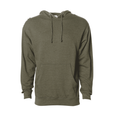 Independent Trading Company Midweight Hoodie Heather Army Green