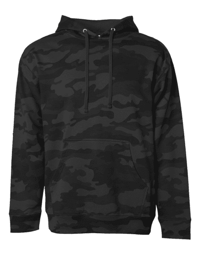 Independent Trading Company Midweight Hoodie Black Camo