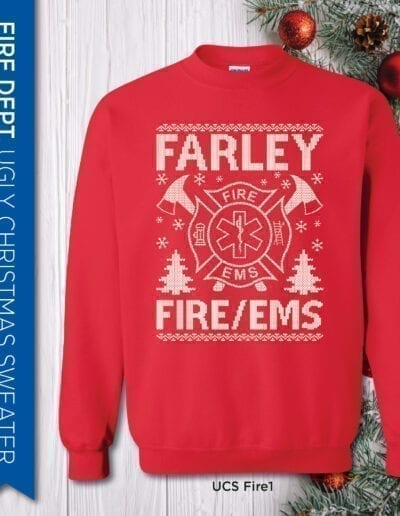 Ugly Christmas Sweater Fire Department