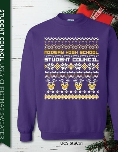 Ugly Christmas Sweater Student Council