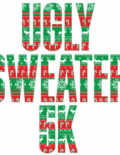 Ugly Christmas Sweater 5k Run Text