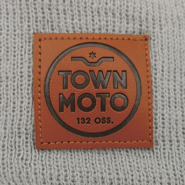 Custom Knit Toques Beanies Leather Patches