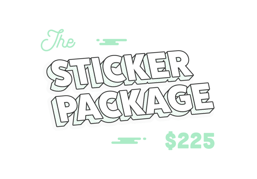 Custom printed sticker packages at Ironclad Graphics