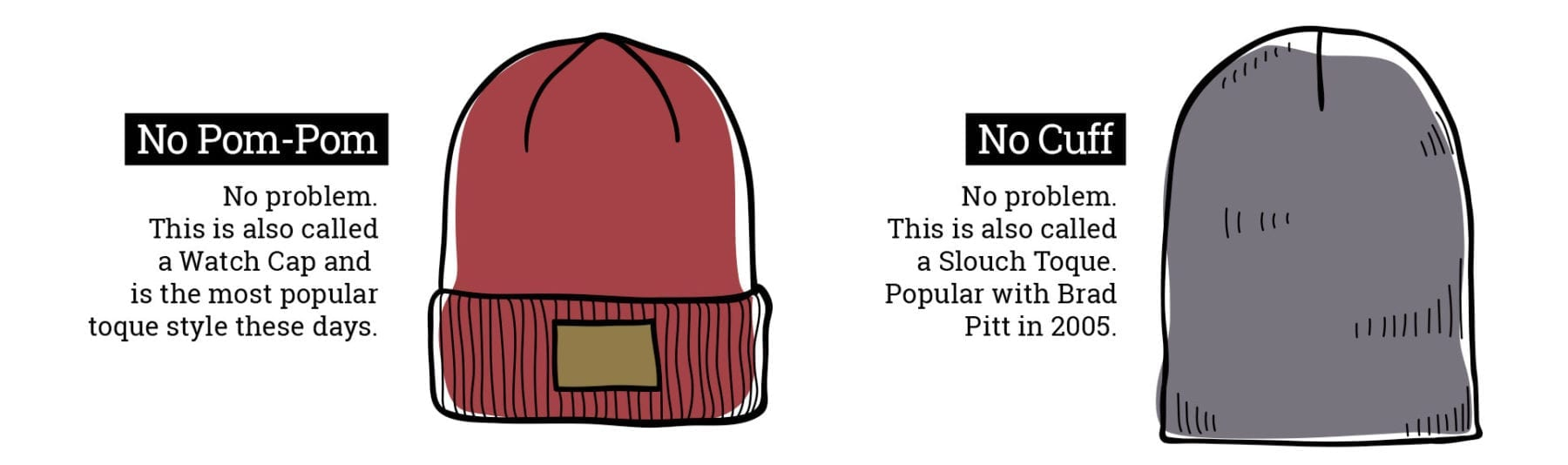 Custom Knit Toque and Beanie Options from Ironclad Graphics